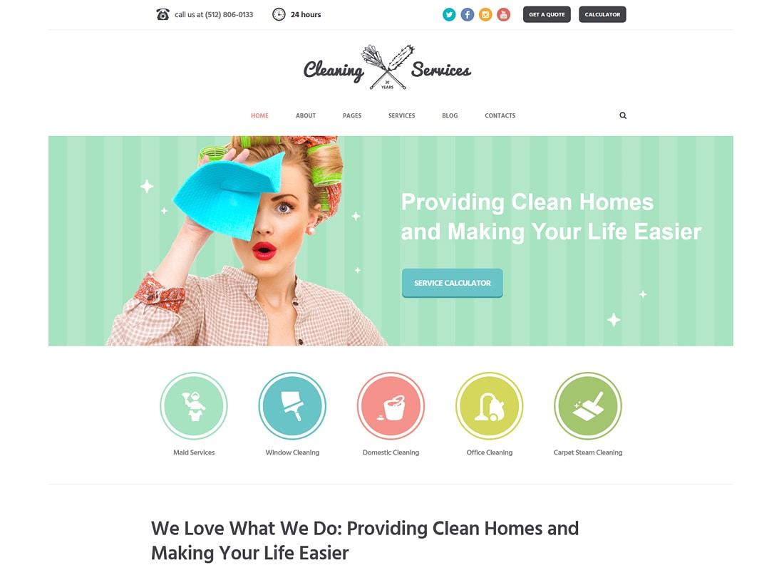 Cleaning Company | Maid & Janitorial Service WordPress Theme