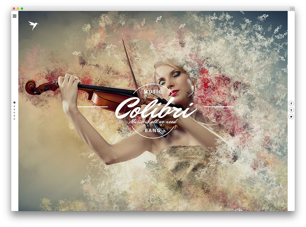 colibri creative theme for artists