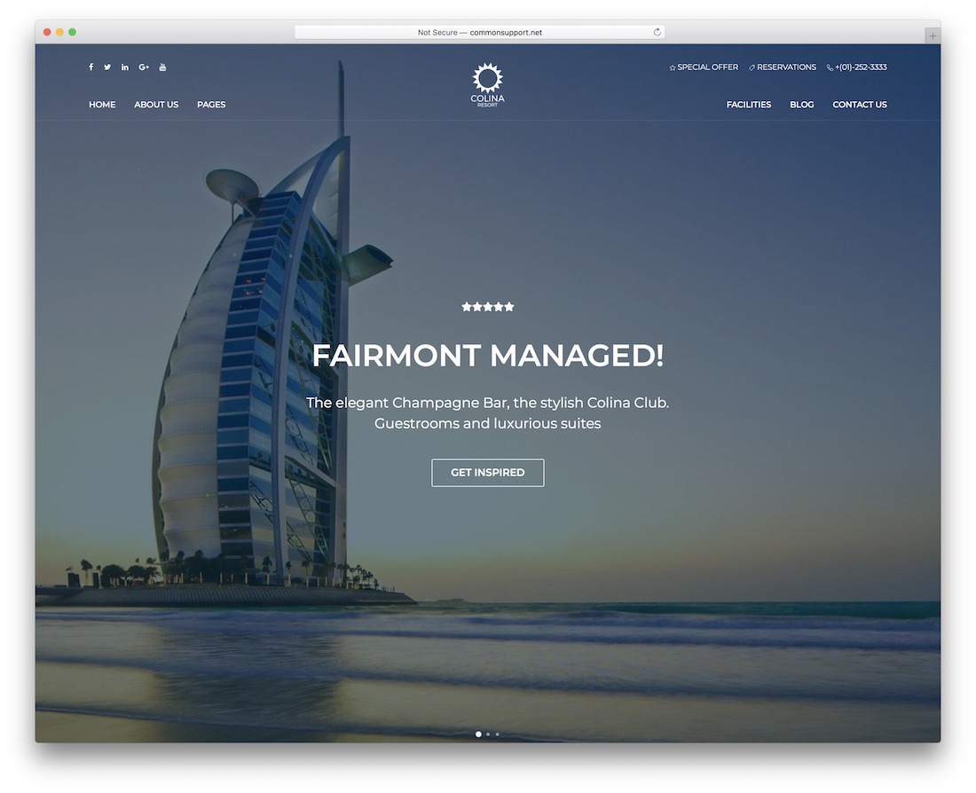 colina hotel website template