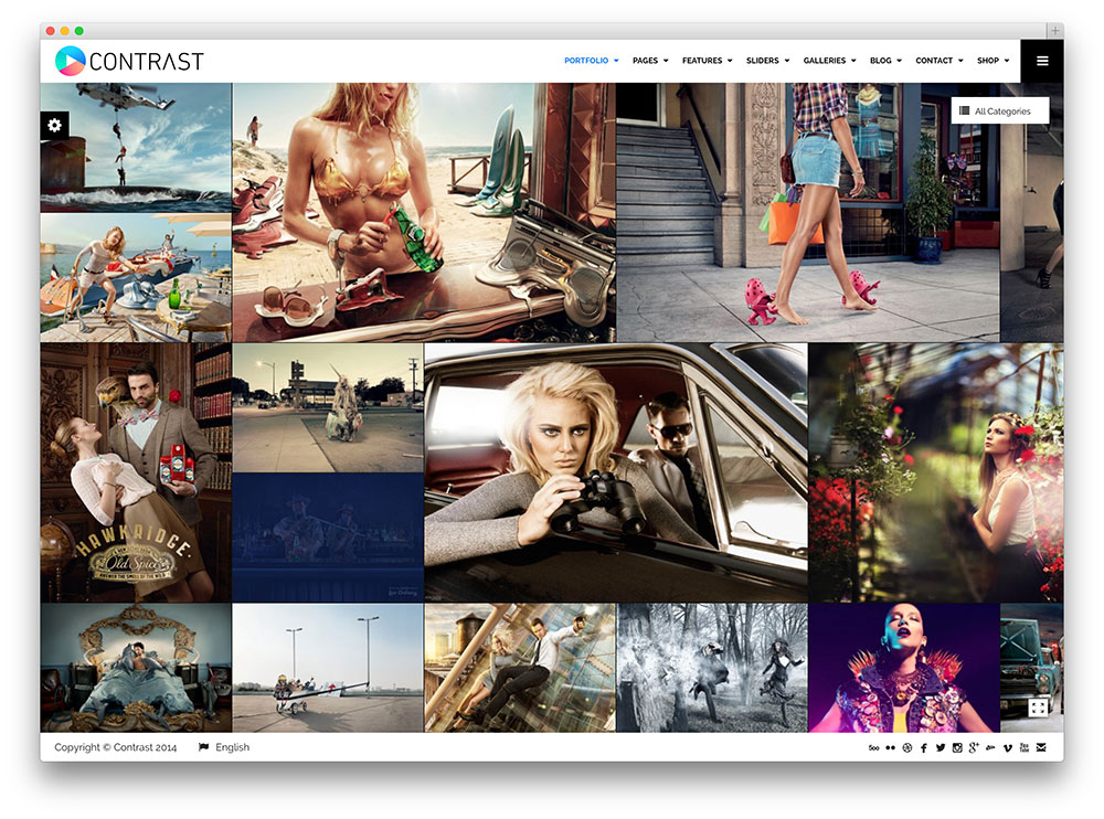 contrast photography theme