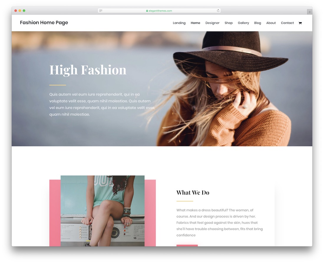 divi fashion template