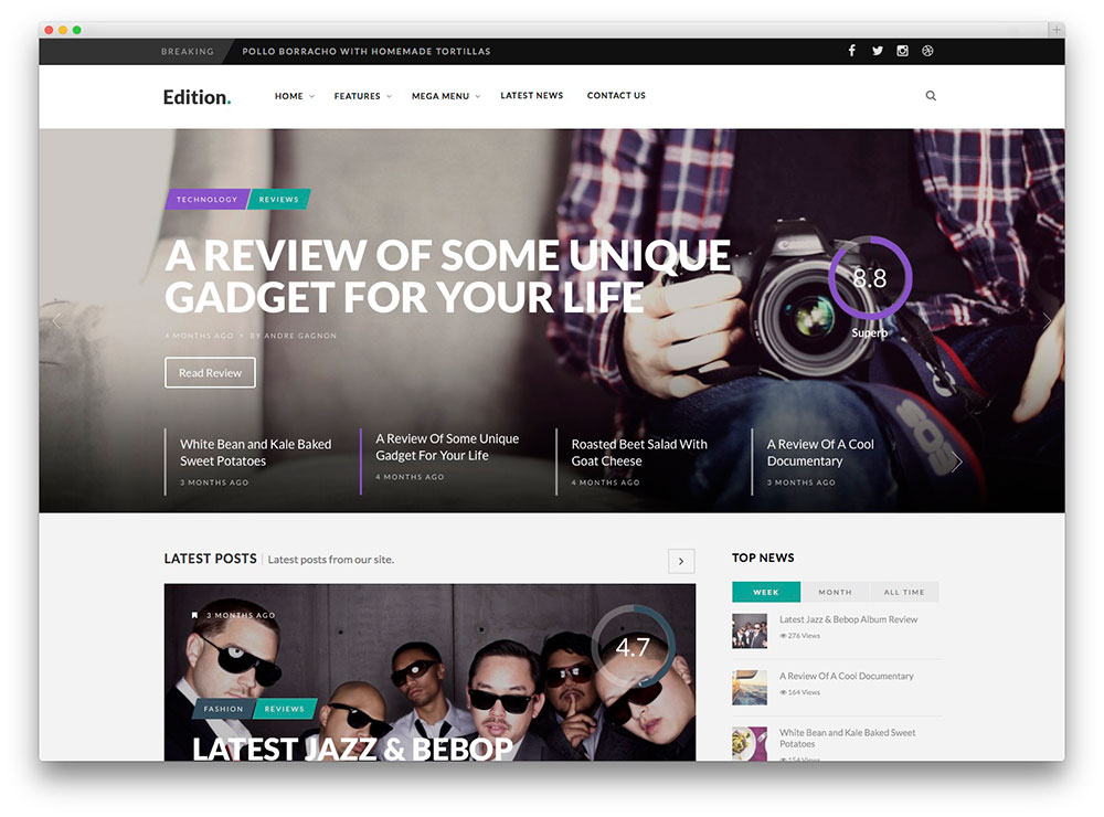 Edition Review and Magazine theme