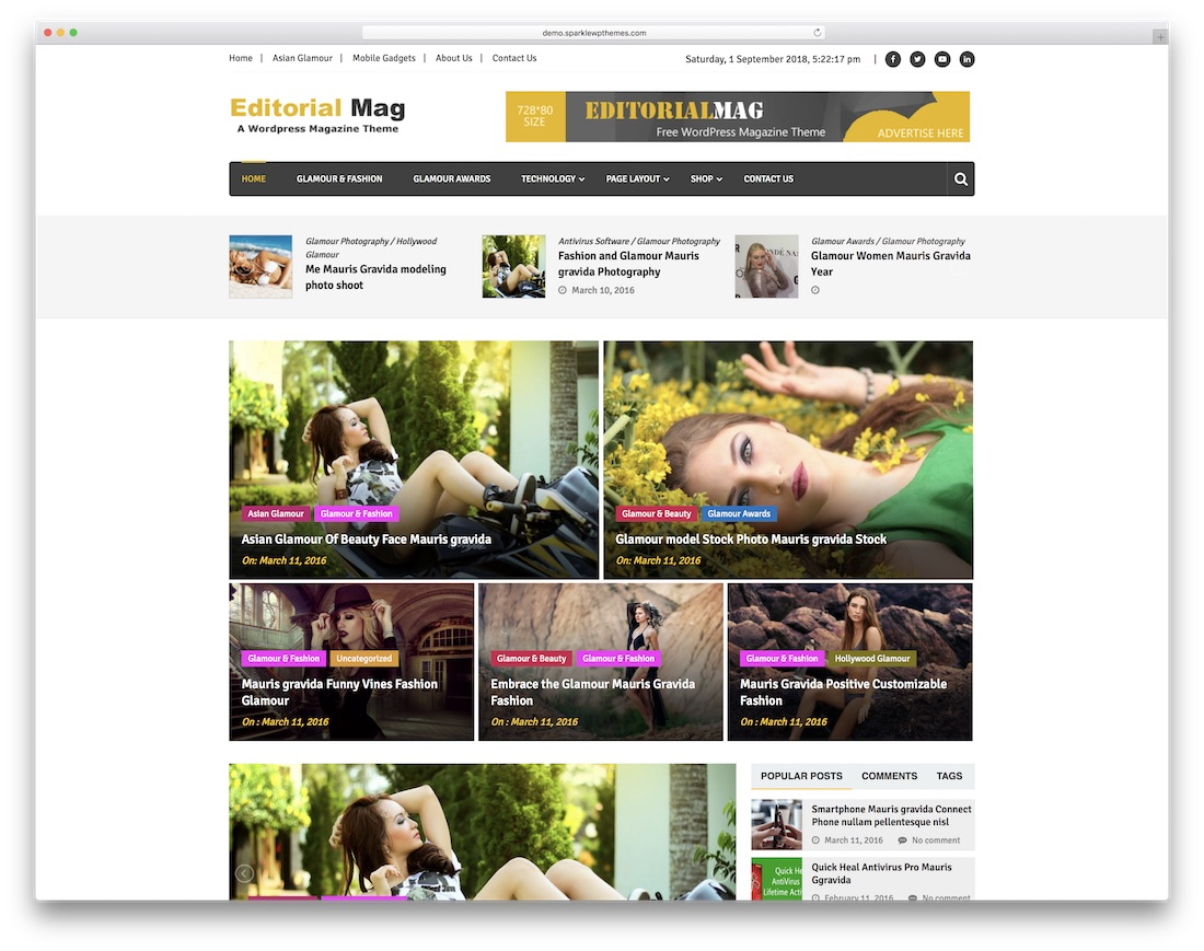editorial mag free news website template