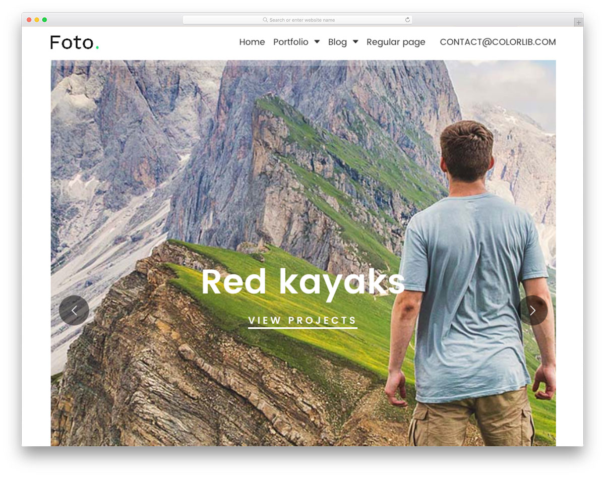 Foto free photography template