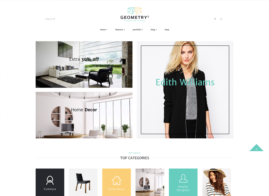 Geometry - Interior Design & Furniture Shop WordPress Theme