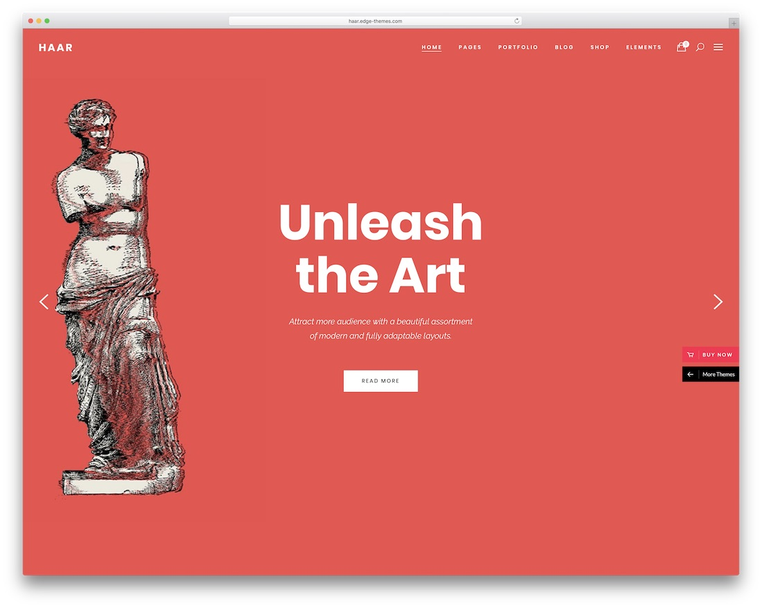haar wordpress theme for artists