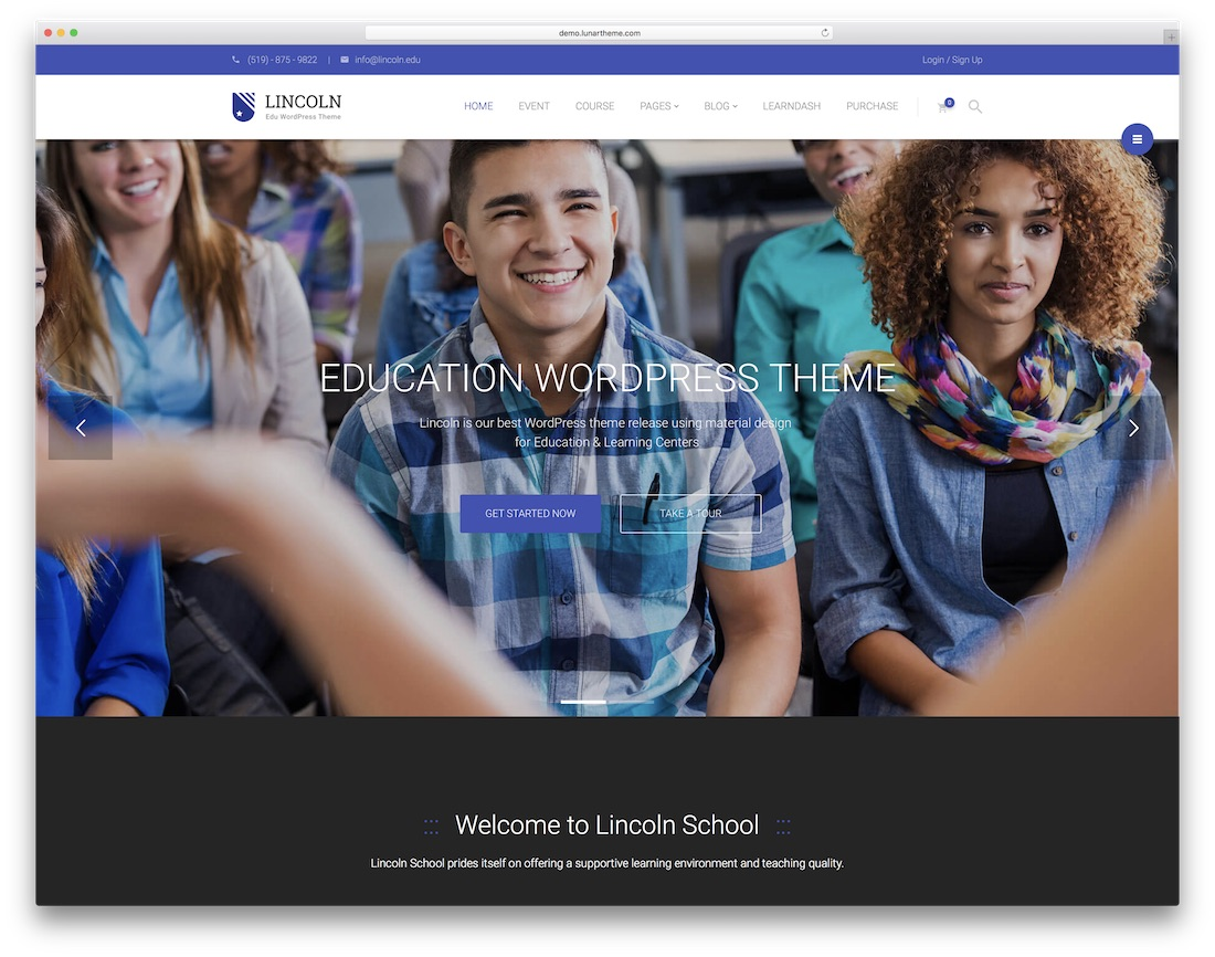 lincoln website template