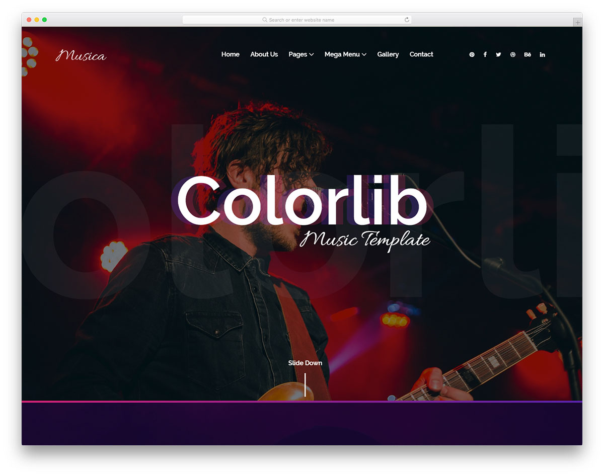 musica free template