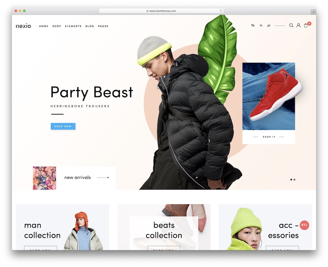 nexio fashion website template