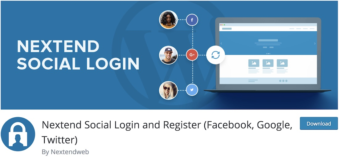 nextend social login and registration