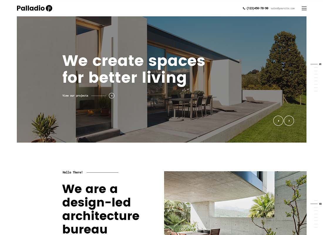 Palladio - Interior Design & Architecture WordPress Theme