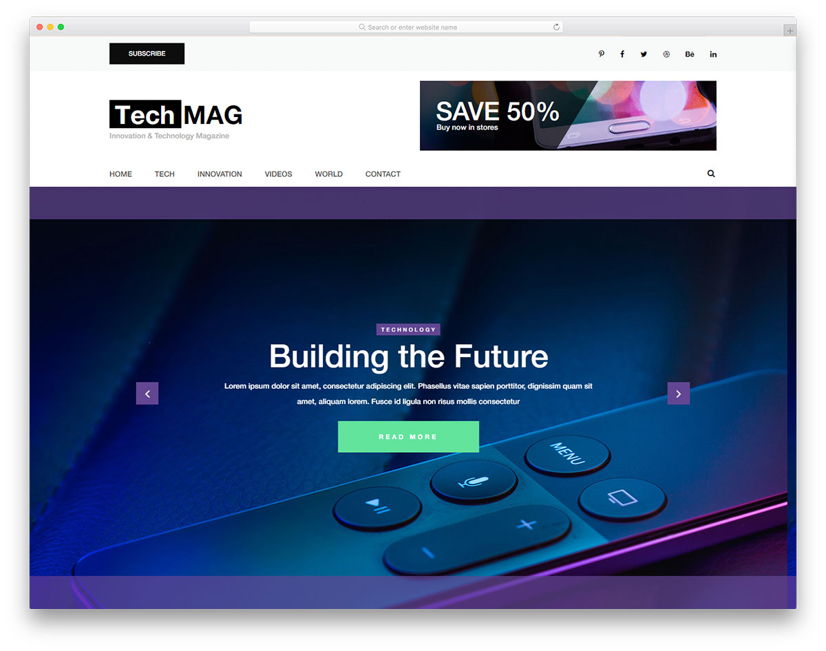 techmag free template