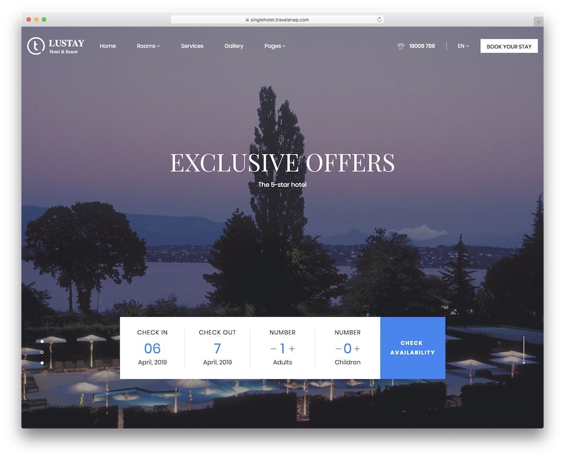 traveler hotel wordpress theme incredible design