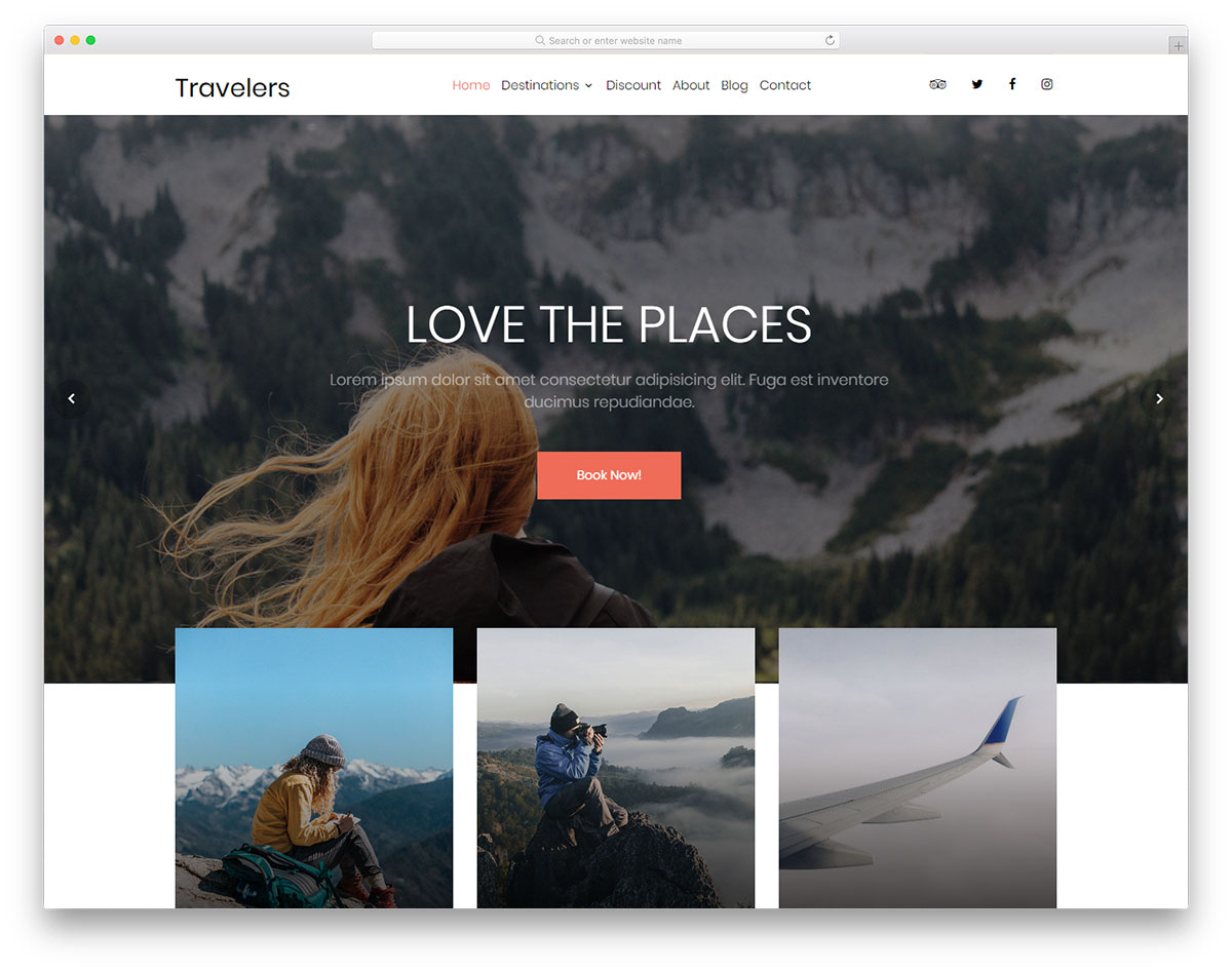 travelers free template