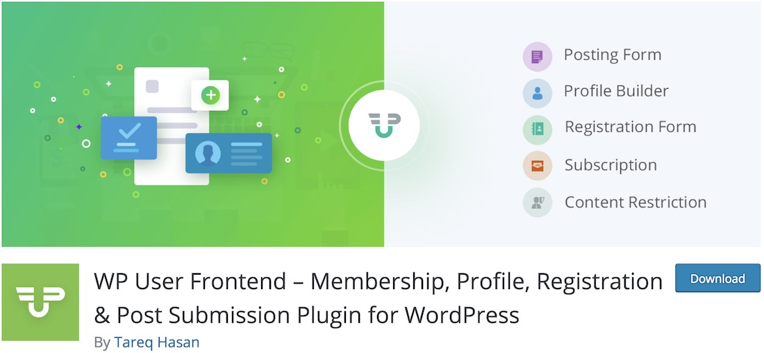 wp user frontend free custom registration form plugin