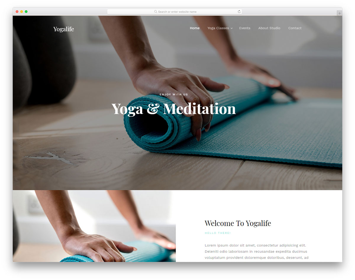 yogalife free template