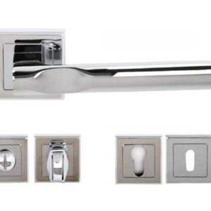 Kansas Lever Handles and Accessories in Polished Chrome