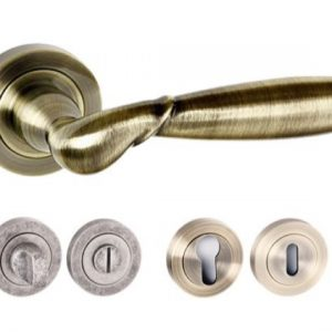 Rochester Square Edge Lever Handles And Accessories Antique Brass