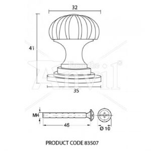 Cabinet Knob (With Base) - Small