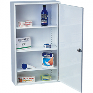 Adjustable Shelved Medicine Cabinet