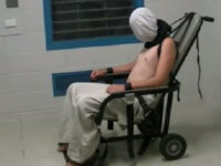 Dylan Voller, strapped to a mechanical restraint chair in Darwin's notorious Don Dale juvenile unit was once a football-loving teenager, but was shackled and placed in a 'spit hood' in custody. Picture: ABC