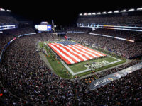 Patriots/Seahawks Field Size Flag Smaller Than Mile Long Green Flag Of Million Libyans For Gaddafi