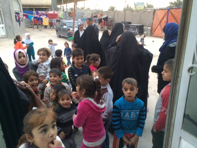 families that fled Mosel, living near Najaf