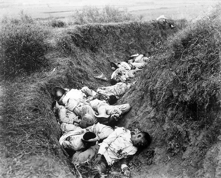 Filipino casualties on the first day of war