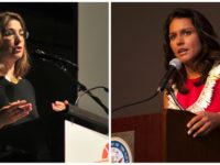 Author and activist Naomi Klein and Rep. Tulsi Gabbard (D-Hawaii) are traveling to North Dakota to support the Standing Rock Sioux Tribe. (Photos: Joe Mabel, U.S. Pacific Fleet/flickr/cc)