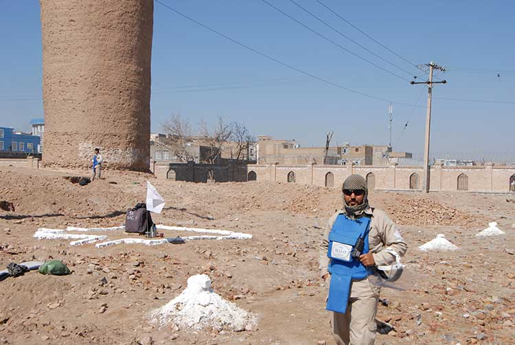 De-mining work in Herat