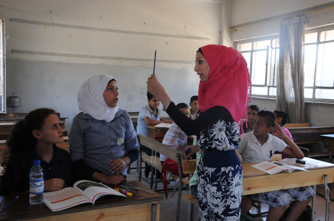 English lesson at a Palestinian school