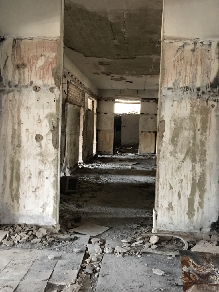 Still full of mines... It used to be a school in Aleppo