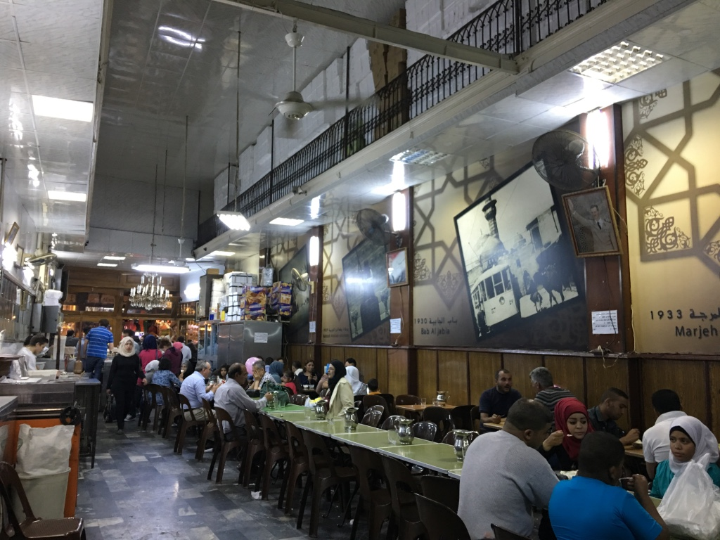 Ancient eatery at Hamdieh Souk in Damascus