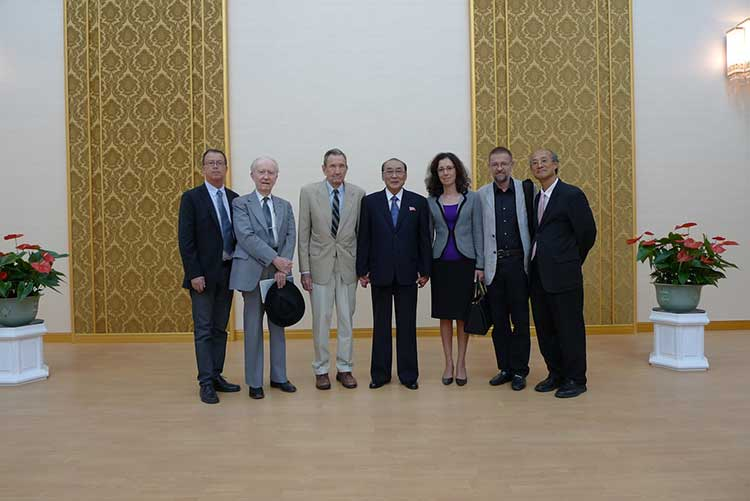 me in DPRK, Ramsey Clark Delegation