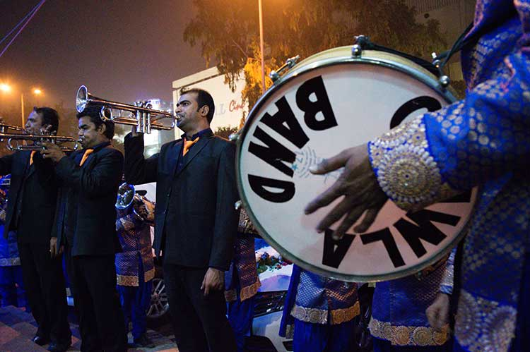 Band wallahs performing at a wedding in Rajouri Garden, New Delhi. Photo Courtesy: Sadia Akhtar