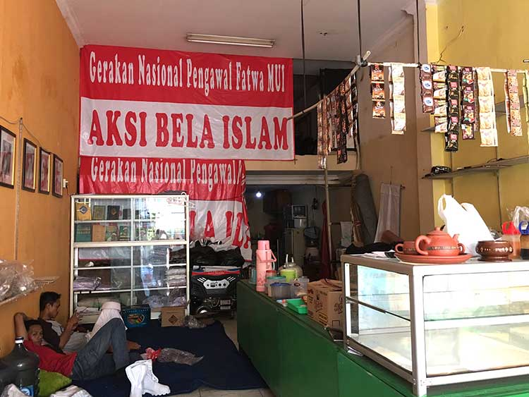 Store belonging to FPI in Jakarta (Islamic Defender's Front)