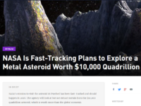 Mining The Asteroids: How Desperate Can We Become?