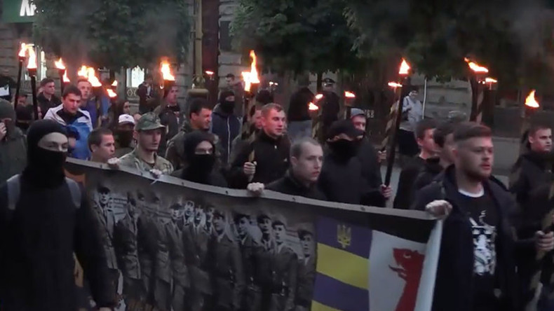 Neo-Nazis March in Ukraine