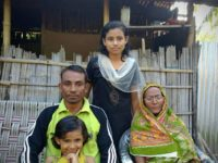 Ashraf Ali along with his daughters an octogenarian motherat his residence in 1 No. Sonjauli village of Dimakuchi in Udalguri of Assam on Thursday.