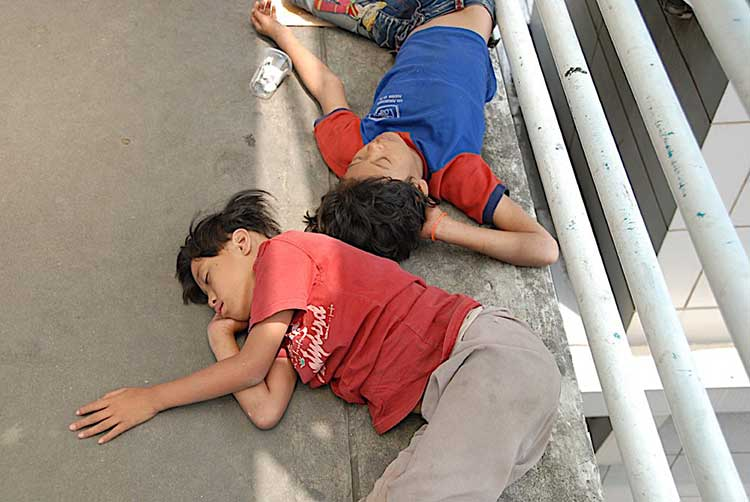 Hungry and homeless in Jakarta
