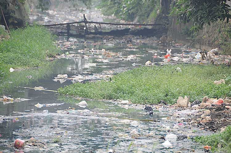 Just a normal river in Jakarta