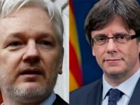 Two Freedom Fighters and Political Prisoners: Assange and Puigdemont.