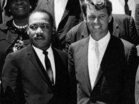 """AR 7993-B (crop) 22 June 1963Civil Rights Leaders meet with the Vice President, Attorney General, and other officials. White House. Please credit """"Abbie Rowe, National Park Service/John Fitzgerald Kennedy Library, Boston""""."""