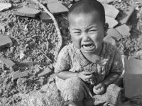 In Nagasaki alone, by the end of 1945 when a first count was possible, 74,000 men, women, and children were dead. Of those, only 150 were military personnel. Seventy-five thousand more civilians were injured or irradiated. (Photo: Getty)