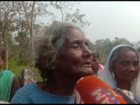 In photo: Mother of victim Bhaben Das.
