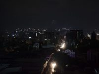 "Night view of Caracas during a power cut on March 7, 2019. - The government of Nicolas Maduro denounced a ""sabotage"" against the main electric power dam in the country, after a massive blackout left Caracas and vast regions of Venezuela in the darkness. (Photo by YURI CORTEZ / AFP)        (Photo credit should read YURI CORTEZ/AFP/Getty Images)"