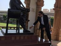 Ambassador Walter Lindner pays respects to RSS founder