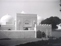 COPYRIGHT THE BRITISH LIBRARY BOARD A photograph of the Babri Masjid from the early 1900s
