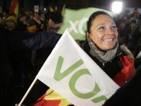 Fascistic Vox party surges in Spanish election as hung parliament emerges
