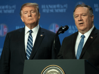 Secretary of State Mike Pompeo speaks at a news conference with President Donald Trump on February 28, 2019 in Hanoi, Vietnam. U.S. (Photo: Tuan Mark/Getty Images)